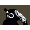 NEXT! BY REINDERS Chimpanzee with Headphones Wall Art