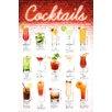 NEXT! BY REINDERS Deco Panel Cocktails deutsche Rezepte - 90 x 60 cm