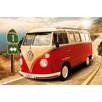 NEXT! BY REINDERS Wandbild Volkswagen Bulli T1 Californien Route 1 Grafikdruck