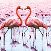 NEXT! BY REINDERS Deco Block 'Tropical Flamingo', Bilddruck