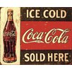 NEXT! BY REINDERS Coca-Cola Ice Cold Sold Here Photographic Print