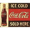 NEXT! BY REINDERS Deco Panel 'Coca-Cola Ice Cold Sold Here', Retro-Werbung