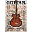 NEXT! BY REINDERS Deco Panel 'Guitar Lingo', Bilddruck