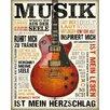 NEXT! BY REINDERS Deco Panel 'Musik ist Leidenschaft', Bilddruck
