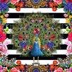 NEXT! BY REINDERS Deco Block 'Melli Mello Peacock', Bilddruck