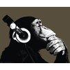 NEXT! BY REINDERS Deco Panel 'Schimpanse mit Kopfhörer', Bilddruck