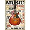 NEXT! BY REINDERS Deco Panel Deco Pane Music is Passion, Grafikdruck
