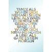 NEXT! BY REINDERS Deco Panel Tanze II , Typografische Kunst