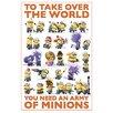 NEXT! BY REINDERS Deco Panel Ich einfach unverbesserlich Minions übernehmen der Welt, Grafikdruck