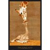 NEXT! BY REINDERS Deco Panel First Kiss Giraffe, Grafikdruck