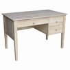 International Concepts Parawood Writing Desk with 3 Drawer