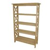 """International Concepts Unfinished Four Tier 48"""" Etagere Bookcase"""