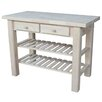 International Concepts Kitchen Island with Butcher Block Top