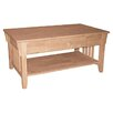 International Concepts Unfinished Wood Coffee Table