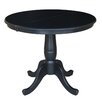 """August Grove Comforter 36"""" Extendable Round Pedestal Dining Table"""