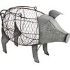 August Grove Pig Basket Figurine