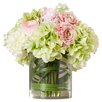 August Grove Spring Hydrangeas and Roses in Vase