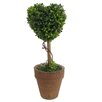 August Grove Floral Heart Topiaries in Pot (Set of 2)