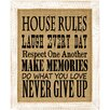 August Grove 'House Rules' Framed Graphic Art
