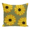 August Grove Cherokee Sunflower Power Floral Outdoor Throw Pillow