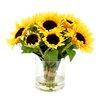 August Grove Faux Sunflower Bouquet