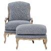 One Allium Way Devay Arm Chair and Ottoman
