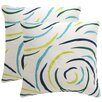 Beachcrest Home Lollypop Indoor / Outdoor Euro Pillow (Set of 2)
