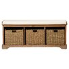 Beachcrest Home Seminole Wood Storage Hallway Bench