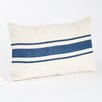 Beachcrest Home Fairfax Striped Design Jute Throw Pillow
