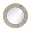 Beachcrest Home Ribbed Ring Shell Mirror