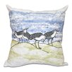 Beachcrest Home Beach Vacation Sandpipers Animal Print Throw Pillow