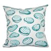 Beachcrest Home Rocio Clams Geometric Print Throw Pillow