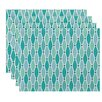 Beachcrest Home Rocio Wavy Geometric Print Placemat (Set of 4)