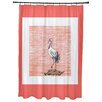 Beachcrest Home Rocio Sandbar Animal Print Shower Curtain