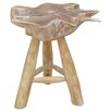 Beachcrest Home Waldeck Teak Wood Stool
