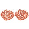 Beachcrest Home Hand Forged Starfish Decorative Serving Bowl (Set of 2)