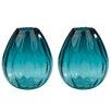 Beachcrest Home Ombre Aqua Vase (Set of 2)