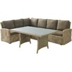 Beachcrest Home Eustis 9 Piece Deep Seating Sectional with Cushion