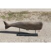 Leyla Carved Whale on Pedestal Statue - Beachcrest Home Garden Statues and Outdoor Accents