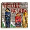 Loon Peak Vintage Snowboards Painting Print on Plaque