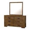 Loon Peak Fort Gibson 6 Drawer Dresser with Mirror