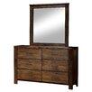 Loon Peak Zena 6 Drawer Dresser with Mirror