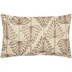 Loon Peak Guardhouse Beaded Lily Leaves Lumbar Pillow
