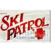 Loon Peak Ski Patrol Vintage Textual Art on Wrapped Canvas