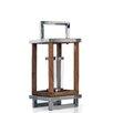 Trent Austin Design Stainless Steel and Glass Lantern