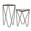 Trent Austin Design Bandera 2 Piece Angular End Table Set