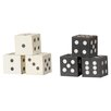 Trent Austin Design Decorative Square Hand Carved Mango Wood Dice (Set of 6)