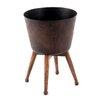 Aurick Steel Pot Planter - Size: 10 inch High x 7.5 inch Wide x 7.5 inch Deep - Trent Austin Design Planters