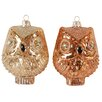 House of Hampton Owl Ornament (Set of 2)