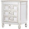 House of Hampton Rhiannon Mirrored 3 Drawer Accent Chest